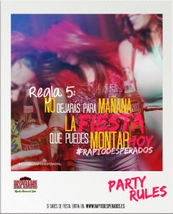 campaña desperados party rules1